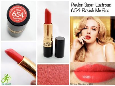 Great red revlon lipstick image here, check it out
