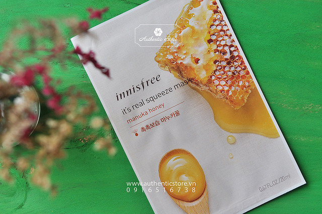 Mặt nạ giấy Innisfree Its real squeeze mask mật ong
