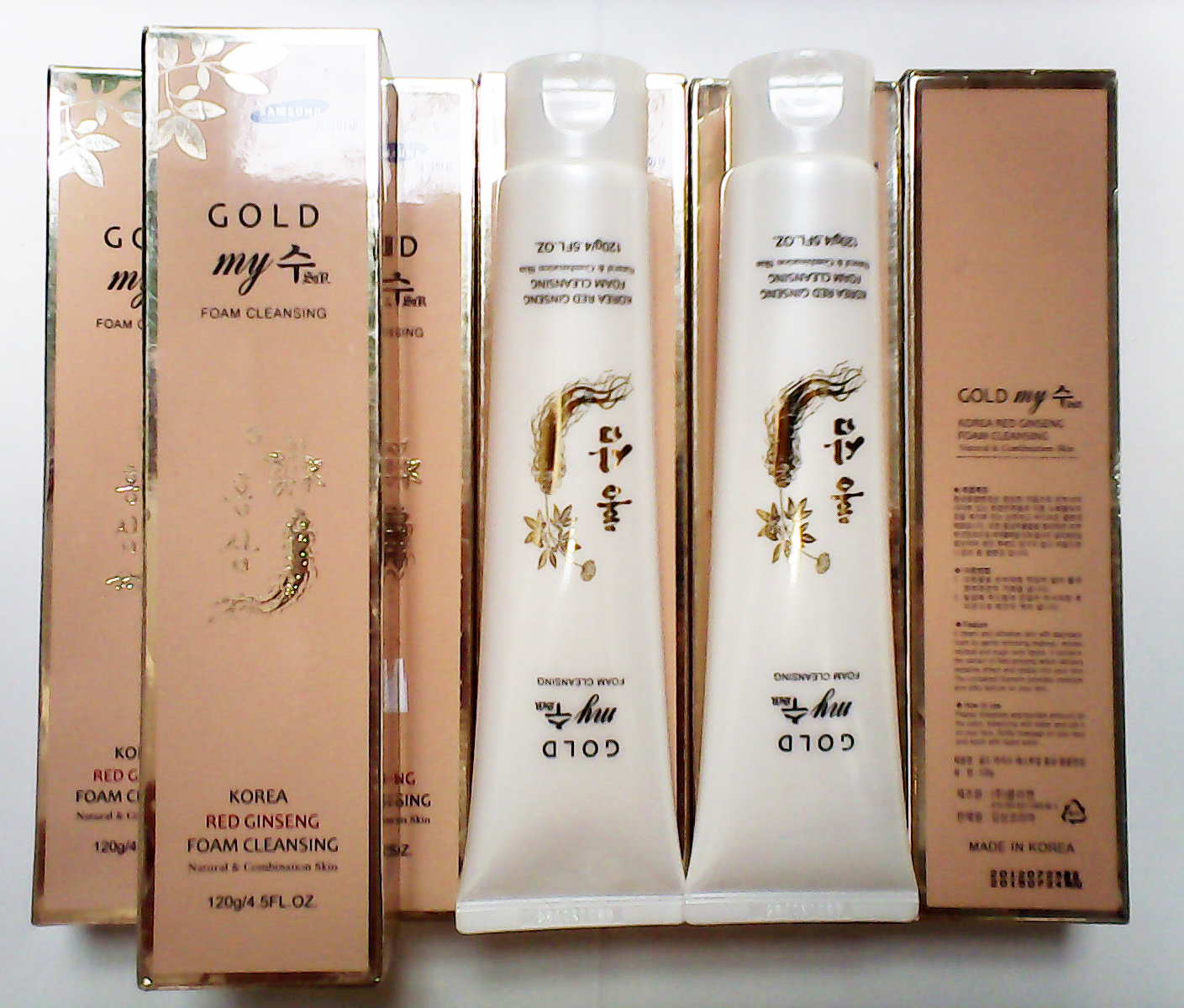 Sữa rửa mặt sâm My Gold Korean Red Ginseng Foam Cleansing​
