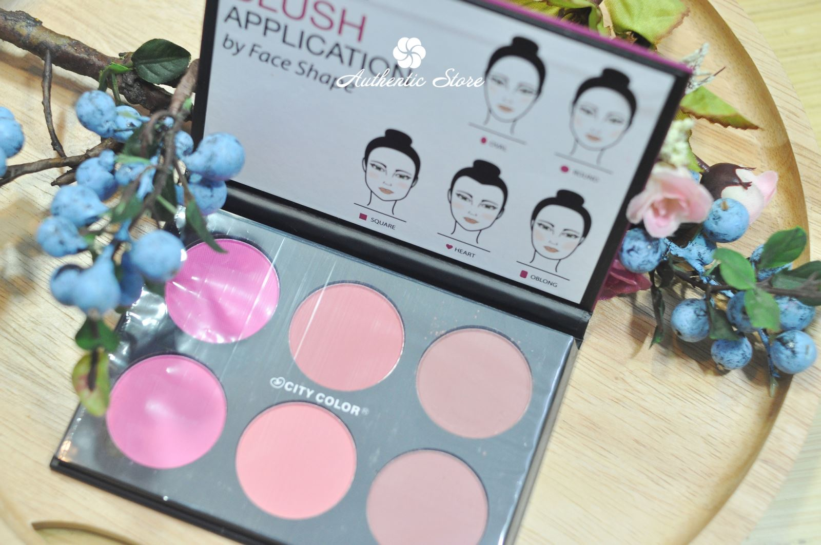 bảng phấn má city color glow pro blush palette