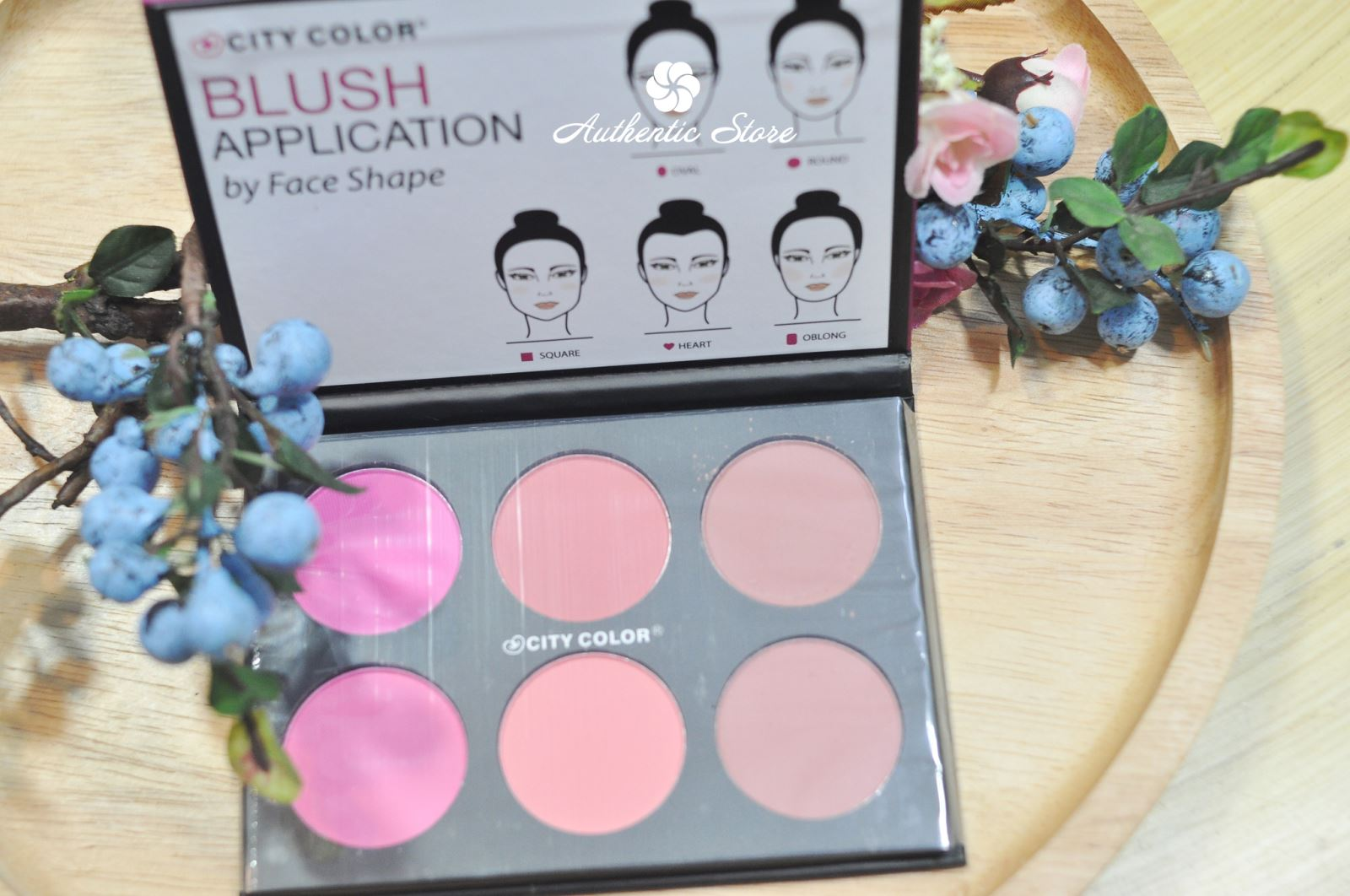 bảng phấn má city color gloww pro blush palette