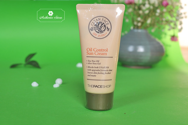 Kem chống nắng The Face Shop Clean Face Oil-free Suncream SPF 35