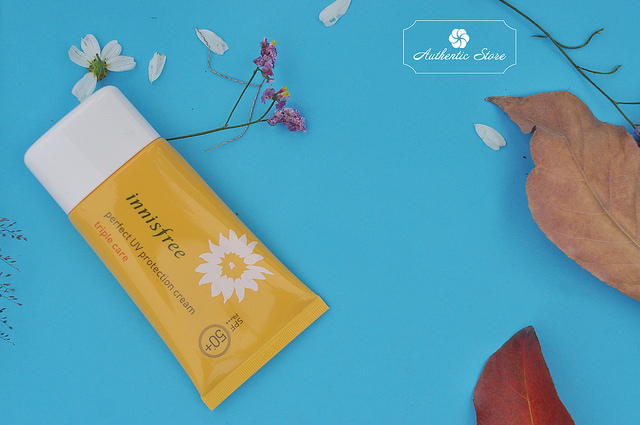 Kem chống nắng Innisfree perfect UV protection cream Triple care SPF 50+