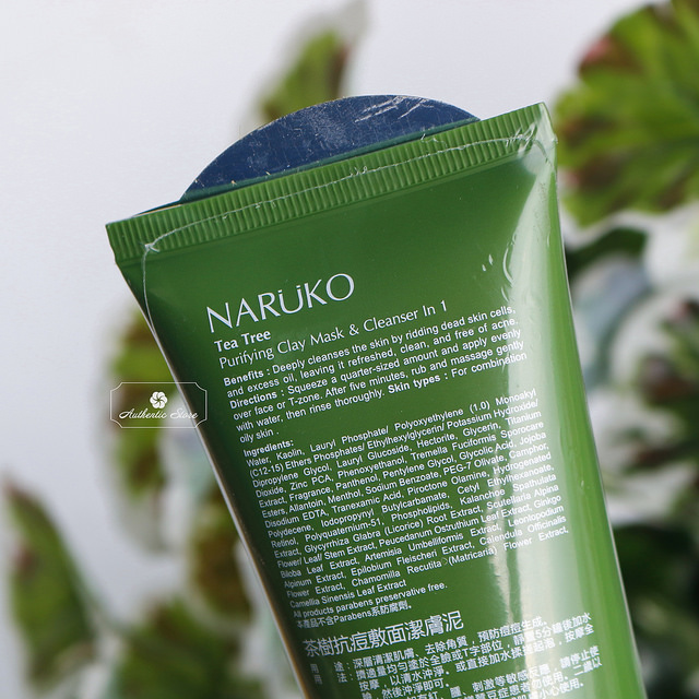 Sữa Rửa Mặt Đất Sét Tràm Trà Naruko Tea Tree Purifying Clay Mask and Cleanser in 1