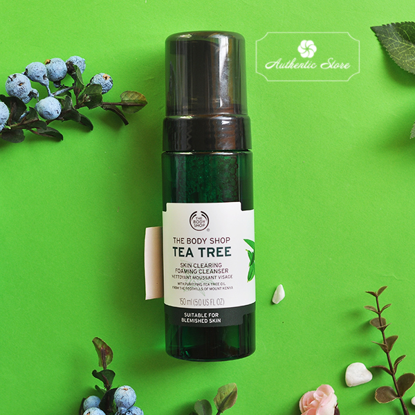 rửa mặt tạo bọt The Body Shop Tea Tree Skin Clearing Foaming