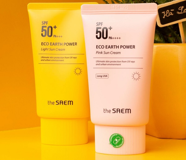 The Saem Eco Earth Power Pink Sun Cream