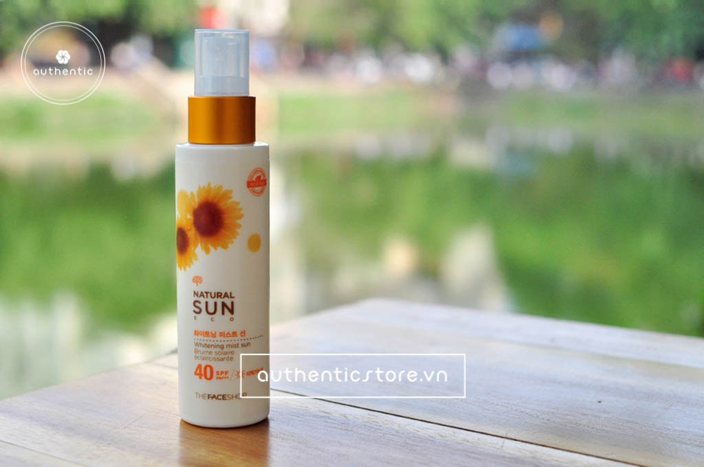 Xịt chống nắng The Face Shop Natural Sun eco cooling spray SPF 50
