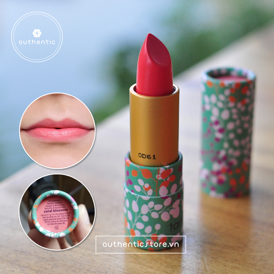Son Tarte Amazonian butter lipstick coral bloonson