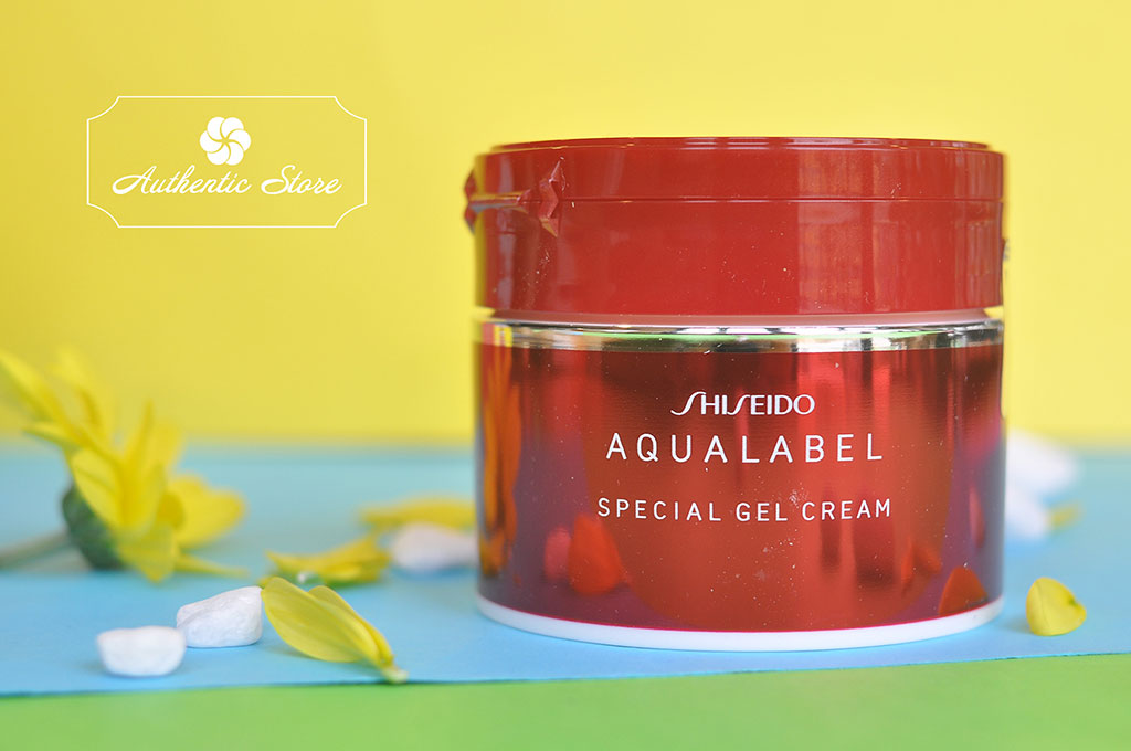 how to use shiseido aqualabel special gel cream