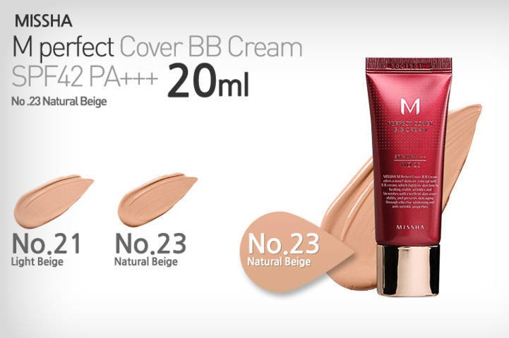 Kem BB Missha Perfect Cover BB cream SPF42 PA+++