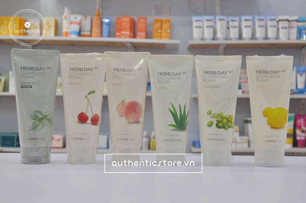 sữa rửa mặt the face shop herb day 365