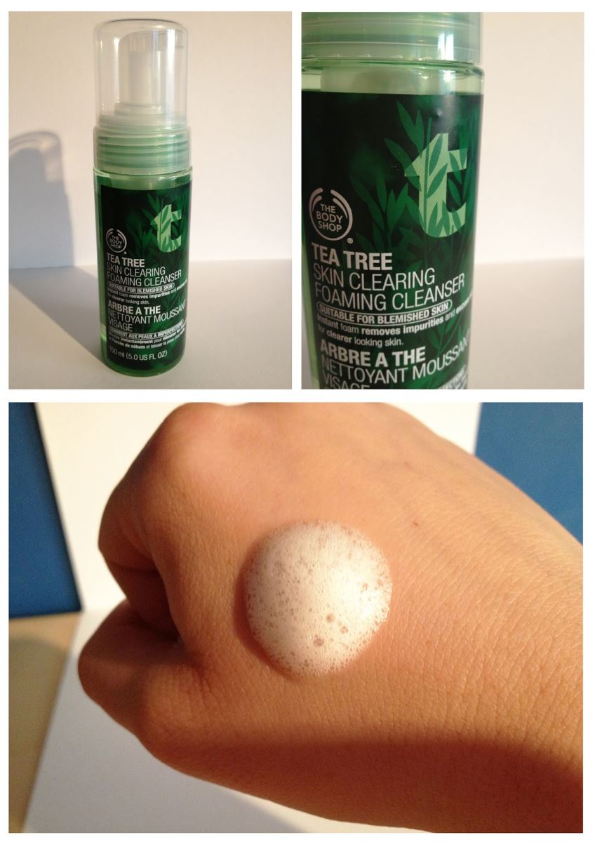 Sữa rửa mặt tạo bọt The Body Shop Tea Tree Skin Clearing Foaming Cleanser