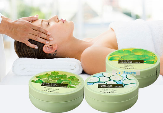 Kem massage toàn thân The Face Shop Herb Day Massage Cream
